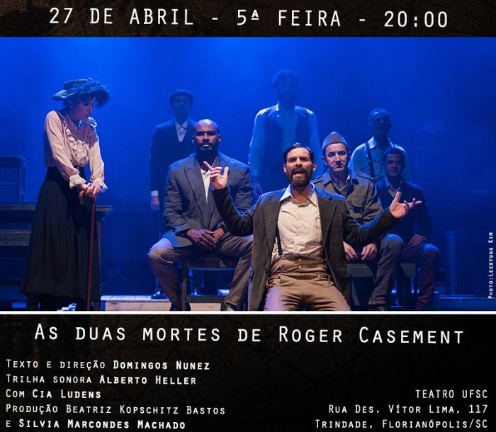 "Espetáculo ""As duas mortes de Roger Casement"" e leitura da peça ""Eclipse"" no ""Irish Theatrical Diaspora"""
