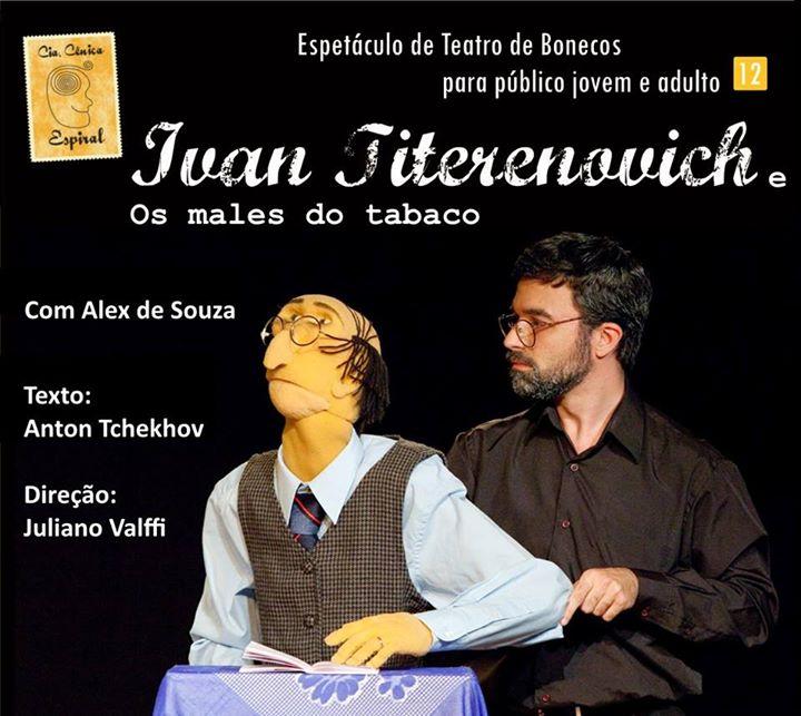 "Espetáculo de teatro de bonecos ""Ivan Titerenovich"", da Cia Cênica Esperal"