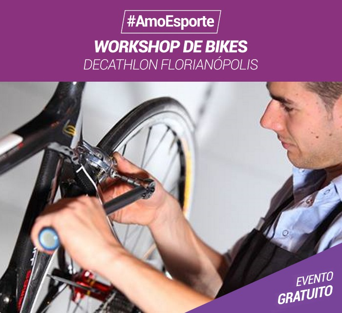Workshop de Bike Decathlon gratuito sem inscrição
